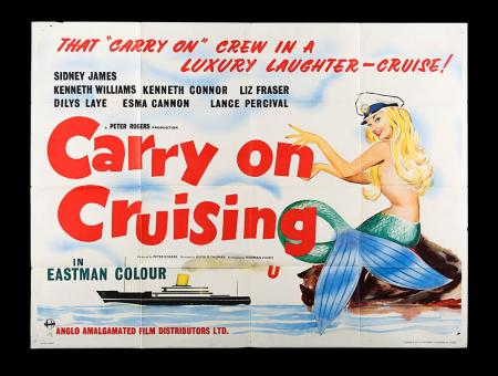 Lot #16 - CARRY ON CRUISING (1962) - UK Quad Poster 1962