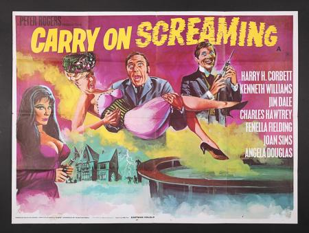 Lot #26 - CARRY ON SCREAMING (1966) - UK Quad Poster 1966