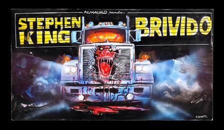 Lot #257 - BRIVIDO AKA MAXIMUM OVERDRIVE (1986) - Italian Original Concept Poster Artwork 1986