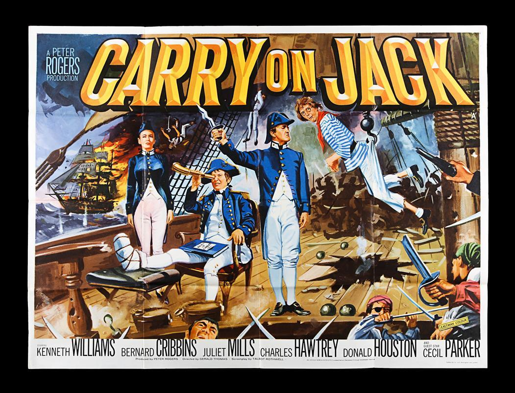 Lot #18 - CARRY ON JACK (1963) - UK Quad Poster 1963 - Price