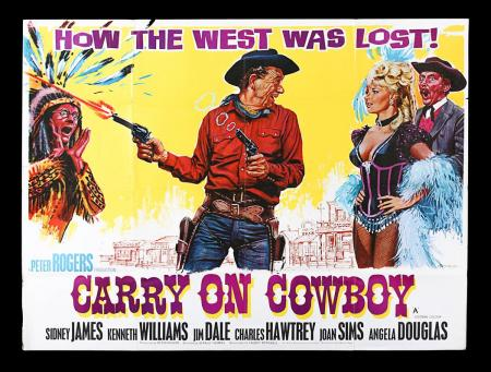 "Lot #25 - CARRY ON COWBOY (1965) - UK Quad ""Style-A"" Poster 1965"