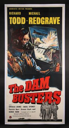 Lot #97 - THE DAM BUSTERS (1955) - UK Three-Sheet Poster 1955