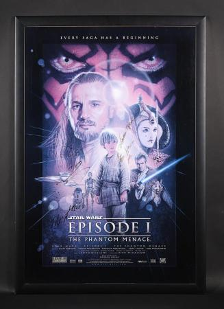 Lot #409 - STAR WARS: EPISODE I: THE PHANTOM MENACE (1999) - Cast Autographed US One-Sheet Poster 1999