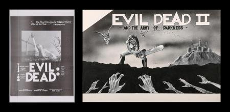 Lot #293 - EVIL DEAD II (1987) - US Original Concept Trade Ad Artwork and Print c 1981-83