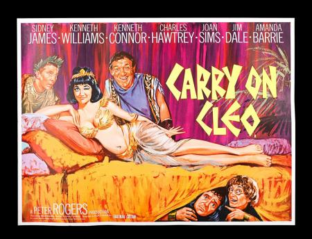 "Lot #21 - CARRY ON CLEO (1964) - UK Quad ""Banned"" Poster 1964"