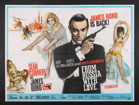 Lot #122 - JAMES BOND: FROM RUSSIA WITH LOVE (1963) - UK Quad Poster 1963