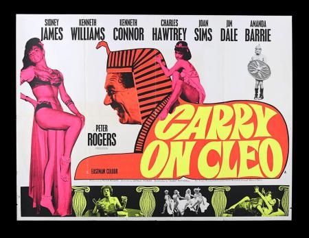 Lot #23 - CARRY ON CLEO (1964) - UK Quad Poster 1964