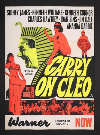Lot #24 - CARRY ON CLEO (1964) - UK Lift Bill Poster 1964
