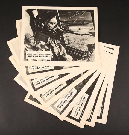 Lot #95 - THE DAM BUSTERS (1955) - Set of Eight UK Front-of-House Stills 1955