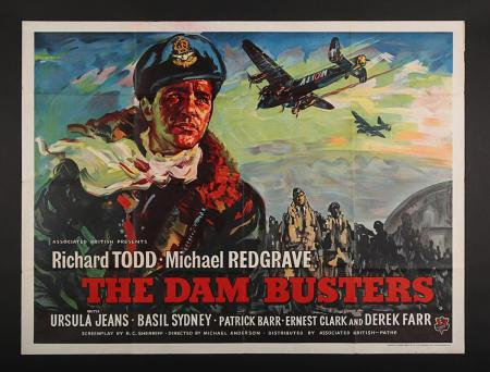 Lot #96 - THE DAM BUSTERS (1955) - UK Quad Poster 1955