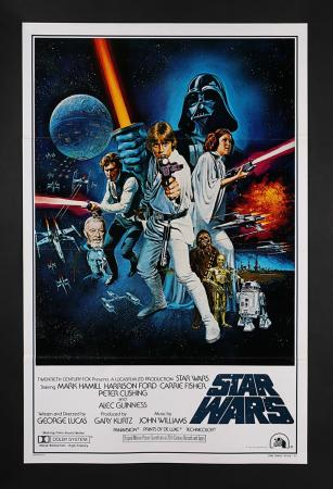 "Lot #386 - STAR WARS: EPISODE IV: A NEW HOPE (1977) - US One-Sheet ""Style-C International"" Poster 1977"