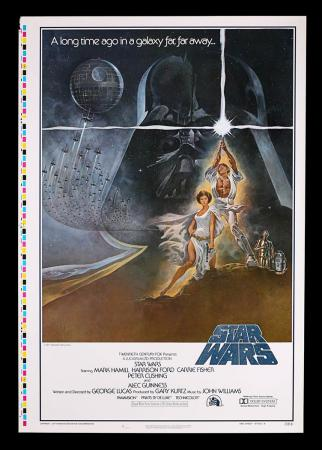 "Lot #388 - STAR WARS: EPISODE IV: A NEW HOPE (1977) - US One-Sheet ""Style-A Printers Proof"" Poster 1977"