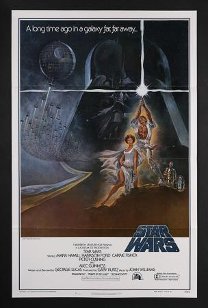"Lot #389 - STAR WARS: EPISODE IV: A NEW HOPE (1977) - US One-Sheet ""Style-A International"" Poster 1977"
