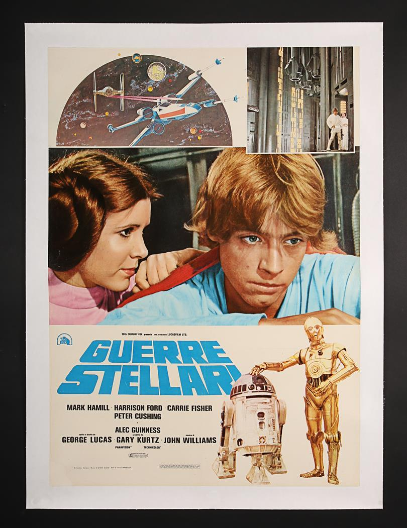 Lot 392 Star Wars Episode Iv A New Hope 1977 Italian Pink Leia Photobusta 1977 Price Estimate 100 200