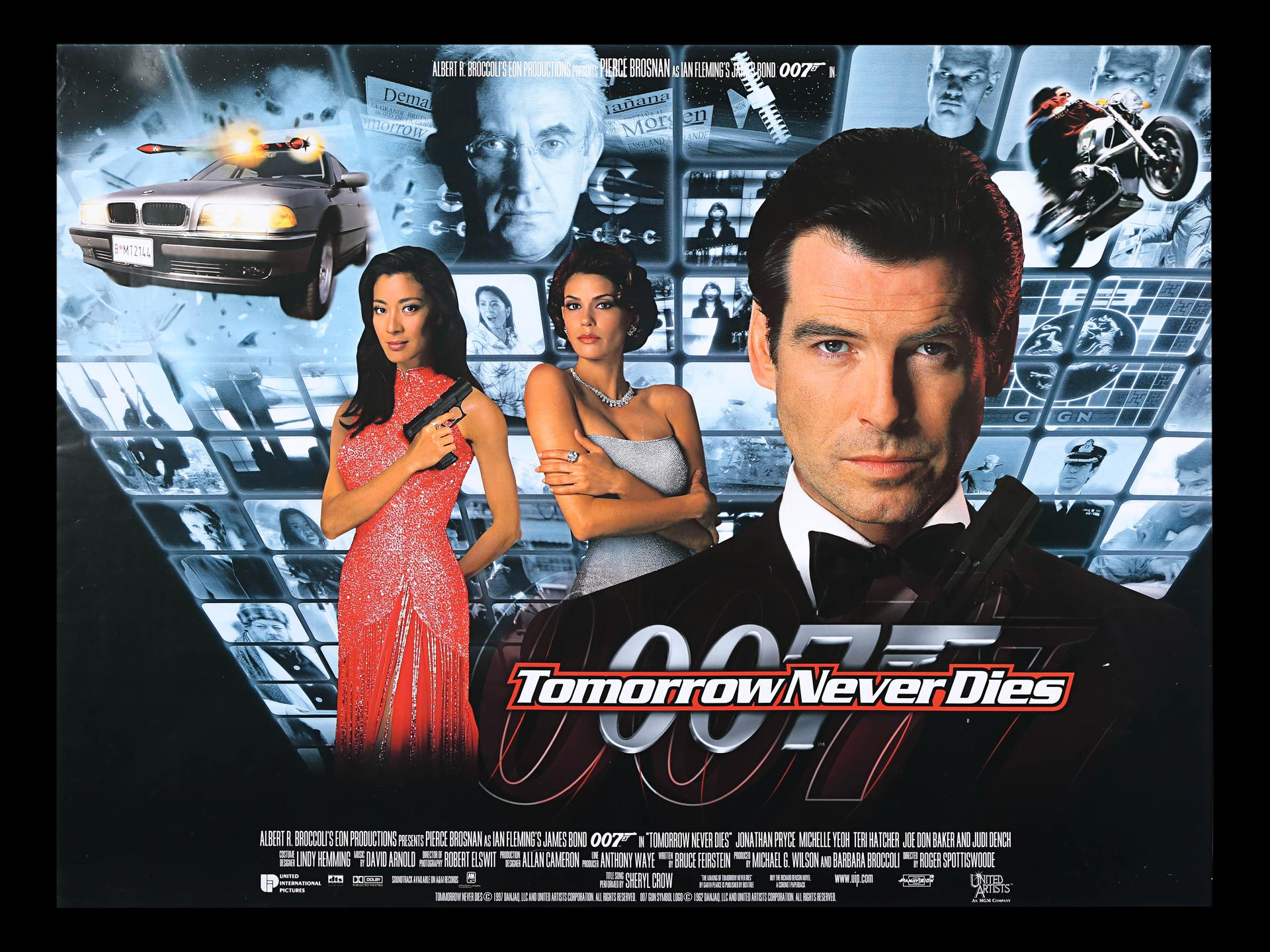 Lot #173 - JAMES BOND: TOMORROW NEVER DIES (1997) - Five UK Quad ...