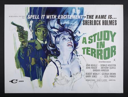 Lot #254 - A STUDY IN TERROR (1965) - UK Quad Poster 1965