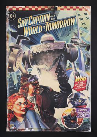 Lot #364 - SKY CAPTAIN AND THE WORLD OF TOMORROW (2004) - US Comic-Con Poster 2004