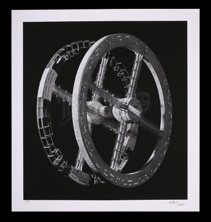 Lot #3 - 2001: A SPACE ODYSSEY (1968) - Limited-Edition Number One Autographed Print of Space Station Lighting Test by Keith Hamshere