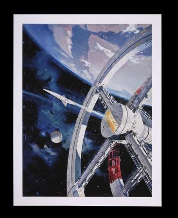 Lot #4 - 2001: A SPACE ODYSSEY (1968) - Limited-Edition Print of Space Station V in Earth Orbit by Robert McCall