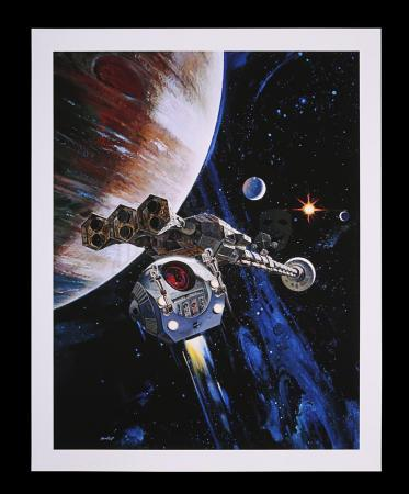 Lot #6 - 2001: A SPACE ODYSSEY (1968) - Limited-Edition Print of Discovery and Pod In Jupiter Space by Robert McCall