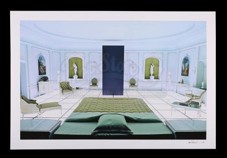 Lot #7 - 2001: A SPACE ODYSSEY (1968) - Limited-Edition Number One Autographed Print of Bedroom and Monolith by Keith Hamshere