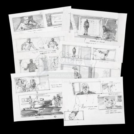 Lot #12 - 2010: THE YEAR WE MAKE CONTACT (1984) - Hand-Drawn Storyboards - Floyd Meets Bowman