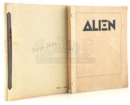 Lot #18 - ALIEN (1979) - Pair of Ron Cobb's Personal Production Scripts