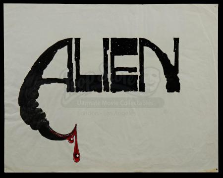 Lot #22 - ALIEN (1979) - Hand-Drawn Ron Cobb Title Concept Sketch