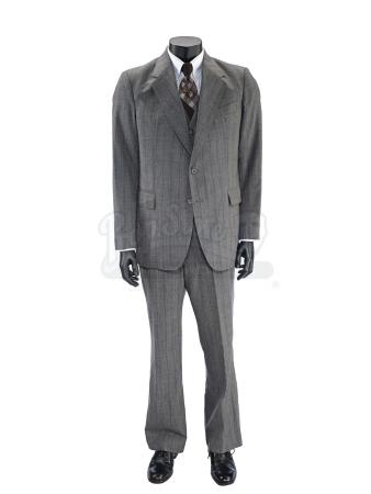 Lot #47 - ANCHORMAN 2: THE LEGEND CONTINUES (2013) - Brick Tamland's Grey Plaid Suit
