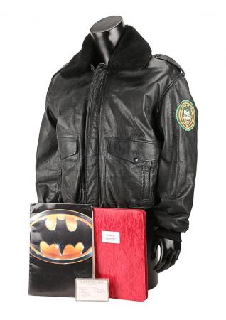 Lot #99 - BATMAN (1989) - Early Draft Script, Crew Jacket, Soundtrack Cassette and Promotional Binder