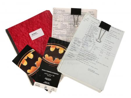 Lot #106 - BATMAN (1989) - Shooting Script, Filming Reports, Call Sheets and Screening Tickets