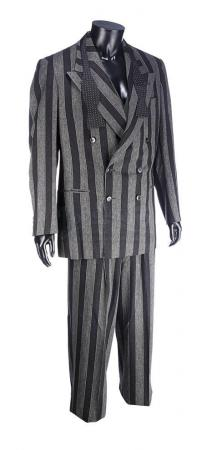 Lot #108 - BATMAN RETURNS (1992) - Shreck's (Christopher Walken) Striped Business Suit and Bow Tie