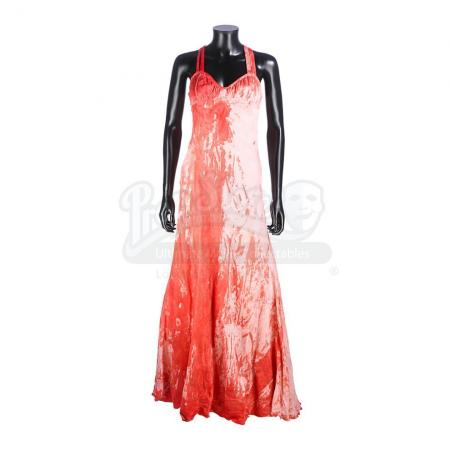 Lot #183 - CARRIE (2013) - Carrie White's (Chloe Grace Moretz) Bloody Prom Dress
