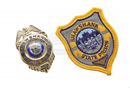 Lot #618 - THE SHAWSHANK REDEMPTION (1994) - Captain Hadley's (Clancy Brown) Badge and Embroidered Patch