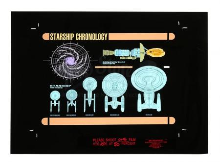 Lot #659 - STAR TREK: DEEP SPACE NINE (TV SERIES 1993-1999) - Starship Chronology Computer Display