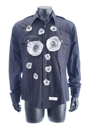 Lot #834 - TERMINATOR 2: JUDGMENT DAY (1991) - T-1000 (Robert Patrick) Bullet-hit Zip-up LAPD Shirt