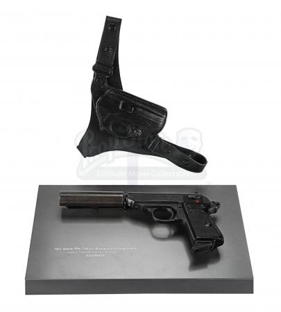 Lot #417 - JAMES BOND: GOLDENEYE (1995) - James Bond's (Pierce Brosnan) Hero Walther PPK Pistol with Silencer and Holster