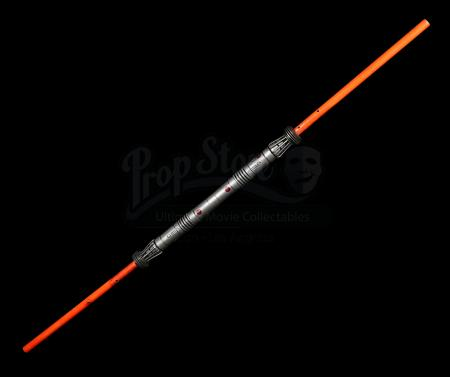 Lot #685 - STAR WARS: THE PHANTOM MENACE (1999) - Darth Maul's (Ray Park) Lightsaber with Close-Action Fighting Blades
