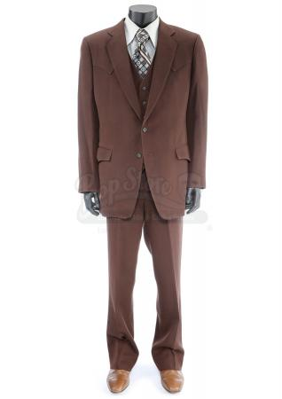 Lot #48 - ANCHORMAN 2: THE LEGEND CONTINUES (2013) - Champ Kind's Dark Brown Suit