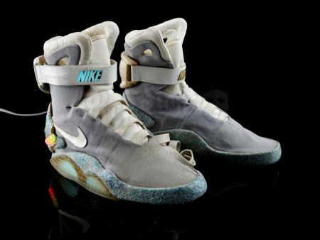 Lot #85 - BACK TO THE FUTURE PART II (1989) - Marty McFly's (Michael J. Fox) Light-Up 2015 Nike MAGs