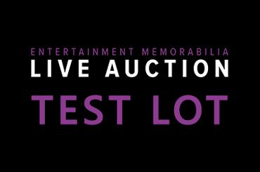 BIDDING PRACTICE TEST LOT - PLEASE TEST YOUR BID BUTTON - THE VIDEO STREAM WILL BEGIN at 12:50
