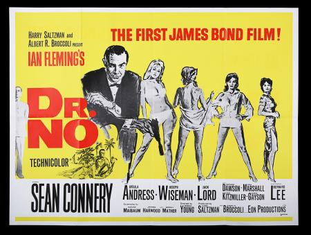 Lot #10 - DR. NO (1962) - UK Quad Poster, c.1967 Re-Release
