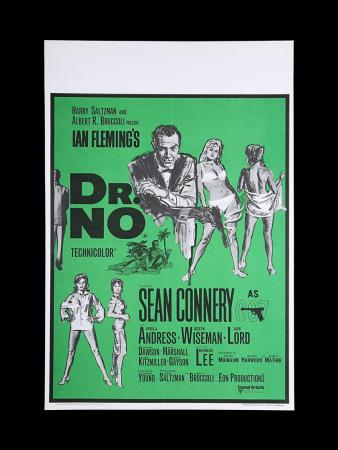 Lot #11 - DR. NO (1962) - UK Quad Double-Crown Poster, 1968 Re-Release