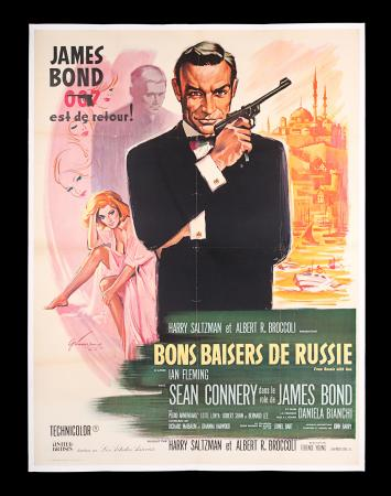 Lot #15 - FROM RUSSIA WITH LOVE (1963) - Linen-backed French Grande Affiche, 1963