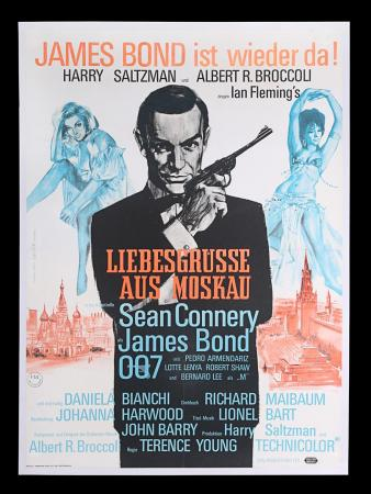 Lot #18 - FROM RUSSIA WITH LOVE (1963) - Linen-backed German A1 Poster, 1963