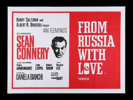 Lot #19 - FROM RUSSIA WITH LOVE (1963) - UK Quad Poster, 1965 Re-Release