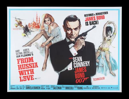 "Lot #21 - FROM RUSSIA WITH LOVE (1963) - UK Quad ""Park Circus"" Poster, 2009 Re-Release"