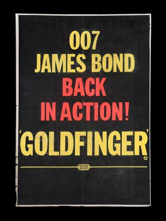 "Lot #25 - GOLDFINGER (1964) - UK Double-Crown ""Style-B"" Poster, 1964"