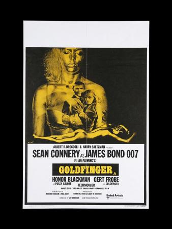 Lot #26 - GOLDFINGER (1964) - UK Double-Crown Poster, 1969 Re-Release