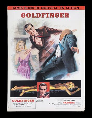 Lot #28 - GOLDFINGER (1964) - French Petite Affiche, 1964